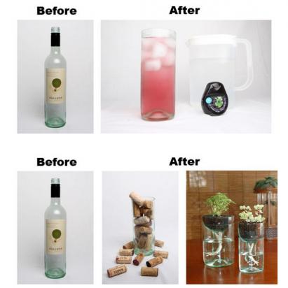 Тиски для превращения пустых бутылок в полезные и красивые предметы