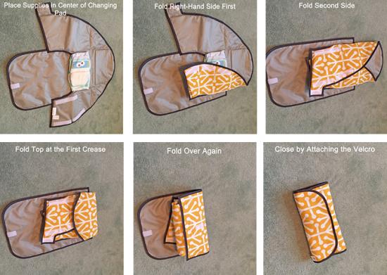 Фиксирующая пеленка-коврик для смены подгузников
