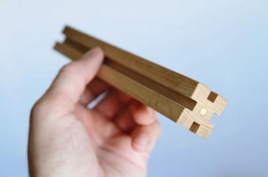 Развивающий деревянный конструктор с магнитами