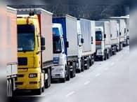 Водители грузовиков вышли на акцию протеста