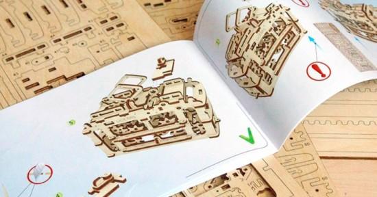 Деревянные движущиеся 3D-пазлы