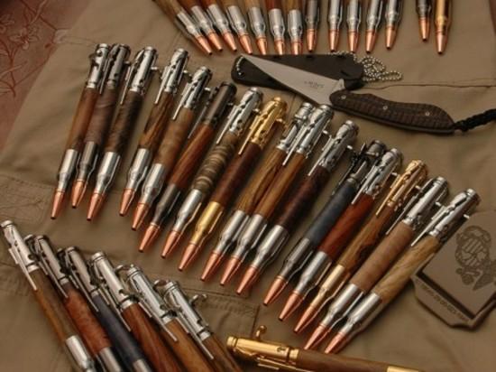 Ручки ручной работы из гильз и пуль