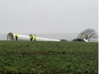 В Великобритании рухнула ветроэлектрическая установка