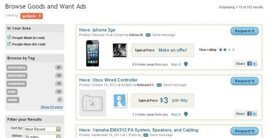 Онлайн-сервис p2p-аренды товаров