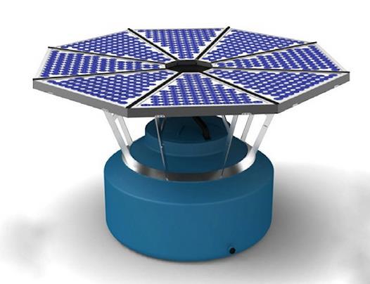 Солнечная батарея и резервуар для сбора питьевой воды